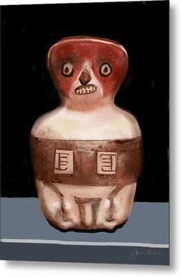 Mayan Whistle Metal Print by Jean Pacheco Ravinski