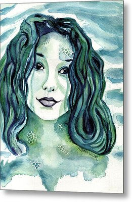 Maybe I'm A Mermaid Metal Print by D Renee Wilson