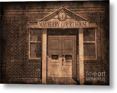 Mayberry Courthouse Metal Print by David Arment