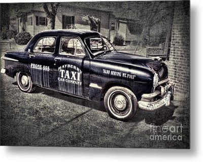 Mayberry Taxi Metal Print by David Arment