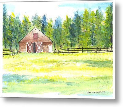 Mayberry's Barn Metal Print