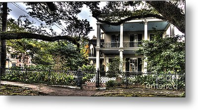 Mayfair Home On First Street Metal Print by PhotoLily Photography
