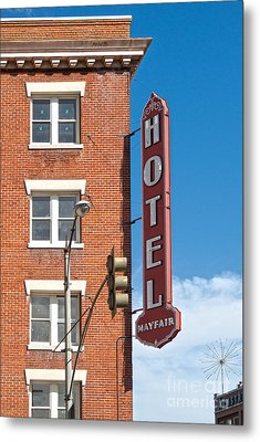 Mayfair Hotel - Pomona California Metal Print by Gregory Dyer