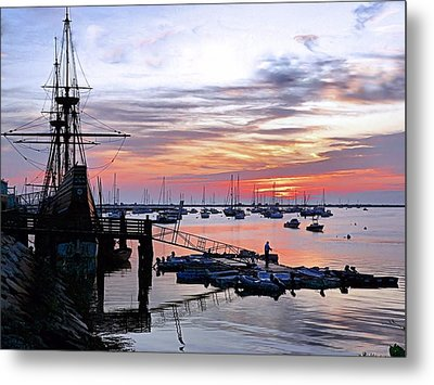 Metal Print featuring the photograph Mayflower II At Sunrise by Janice Drew