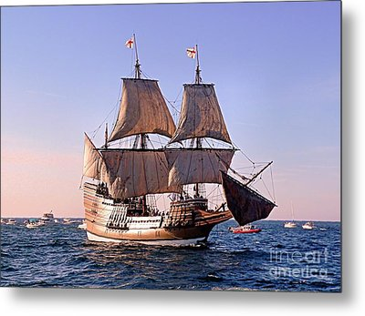 Mayflower II On Her 50th Anniversary Sail Metal Print