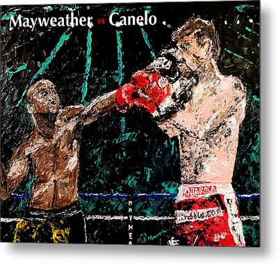Mayweather Vs Canelo Metal Print by Mark Moore