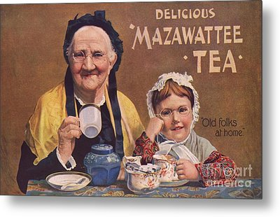 Mazawattee 1890s Uk Tea Metal Print by The Advertising Archives