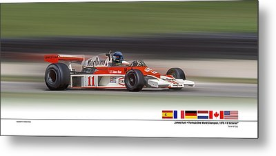Mc Laren M23 Hunt Metal Print