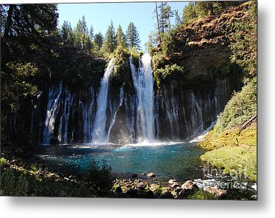 Metal Print featuring the photograph Mcarthur-burney Falls 2 by Debra Thompson