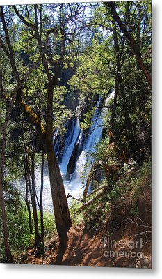 Metal Print featuring the photograph Mcarthur-burney Falls Side View by Debra Thompson