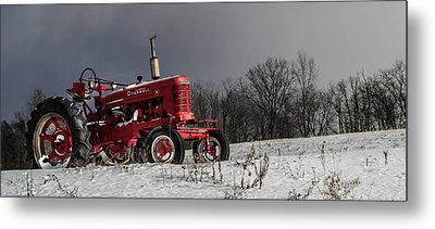 Mccormick Farmall Metal Print by Anthony Thomas