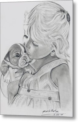 Me And My Puppy Metal Print