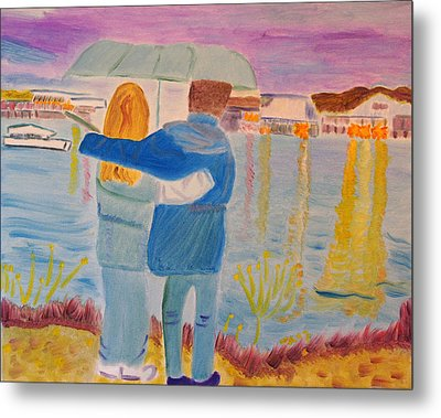 Metal Print featuring the painting Me And You by Meryl Goudey
