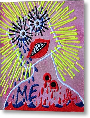 Metal Print featuring the mixed media Me In The Past by Lisa Piper
