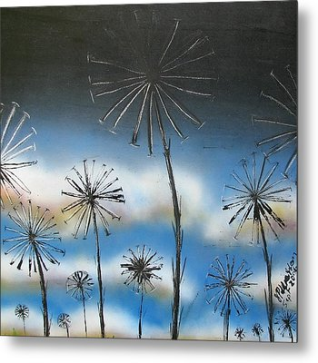 Meadow At Dawn Metal Print
