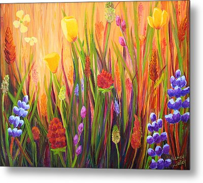 Meadow Gold Metal Print by Nancy Jolley