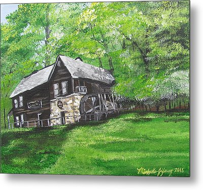 Meadow Run Mill Metal Print by Michelle Young