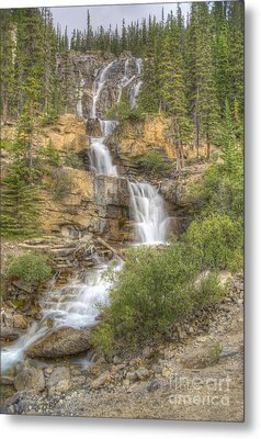 Metal Print featuring the photograph Meandering Waterfall by Wanda Krack