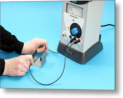 Measuring Induced Electromotive Force Metal Print by Trevor Clifford Photography