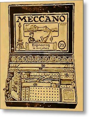 Meccano Steampunk Engineering Metal Print