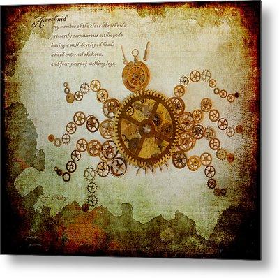 Mechanical - Arachnid Metal Print by Fran Riley