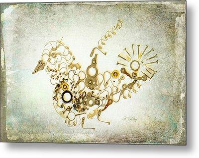 Mechanical - Bird Metal Print by Fran Riley