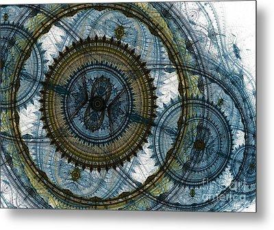 Mechanical Circles Metal Print by Martin Capek
