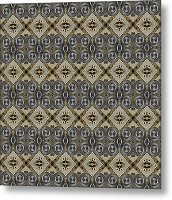 Mechanical Gears Pattern Background Metal Print by Nenad Cerovic
