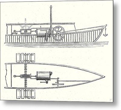 Mechanism Of Marquis De Jouffreys Paddle Steamers Engine Metal Print