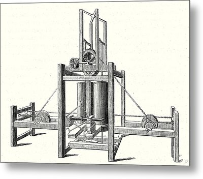 Mechanism Of Miller Taylor And Symingtons Steamboats Engine Metal Print