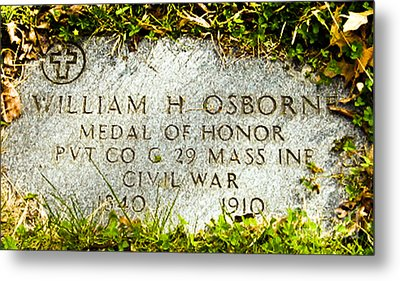 Medal Of Honor   Metal Print by Bob and Nadine Johnston