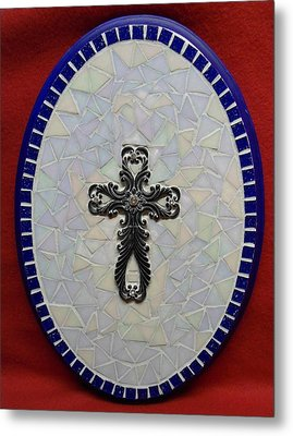 Medallion With Cross Metal Print by Fabiola Rodriguez