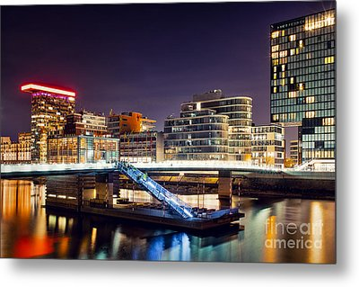 Media Harbor Dusseldorf Metal Print
