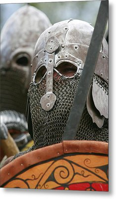 Mediaeval Soldier Re-enactment Metal Print by Science Photo Library