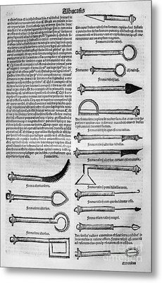 Medical Instruments, 1531 Metal Print by Granger
