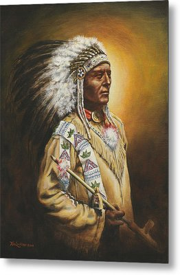 Medicine Chief Metal Print