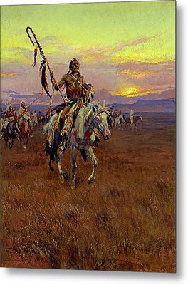 Medicine Man Metal Print by Charles Marion Russell