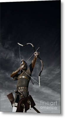 Medieval Archer II Metal Print by Holly Martin
