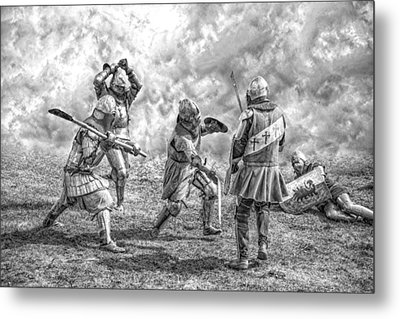 Medieval Battle Metal Print by Jaroslaw Grudzinski
