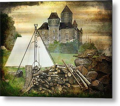Medieval Castle Of Montrottier - France Metal Print by Barbara Orenya