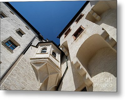 Medieval Housing In An Austrian Fortress Metal Print