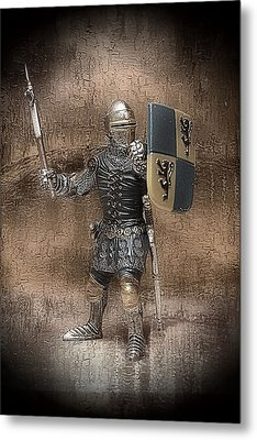 Metal Print featuring the photograph Medieval Knight by Aaron Berg