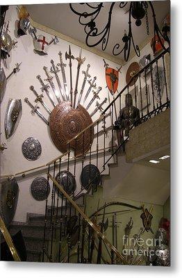Medieval Spanish Weaponry Metal Print by Deborah Smolinske