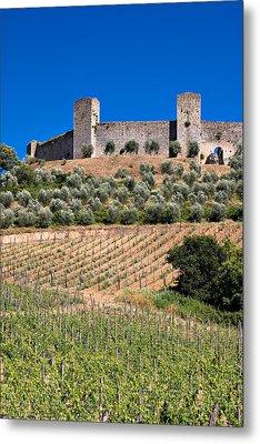 Medieval Walled Village Of Monteriggioni Chianti Tuscany Italy Metal Print by Mathew Lodge