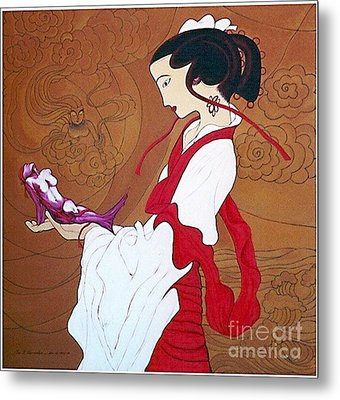 Meditation Metal Print by Fei A