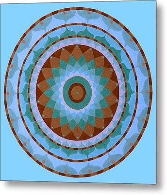Meditation Mandala Metal Print by Vlatka Kelc