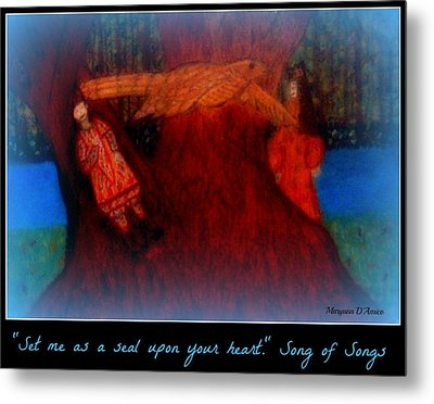 Meditation Number 3 Song Of Songs Metal Print by Maryann  DAmico