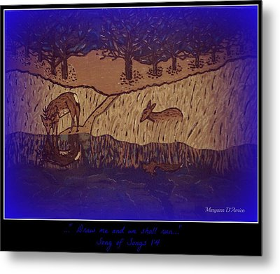 Meditation Number 6 Song Of Songs Metal Print by Maryann  DAmico