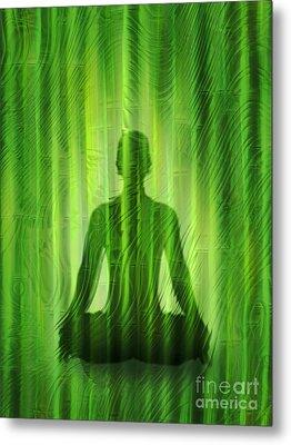Meditation Waves Metal Print by Lutz Baar