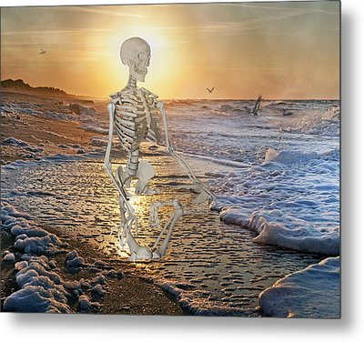 Meditative Morning Metal Print by Betsy Knapp
